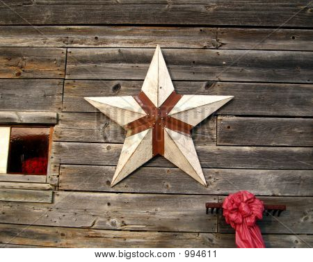 Rusted Star And Barn