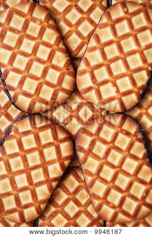 Sweet Cookies With Chocolate
