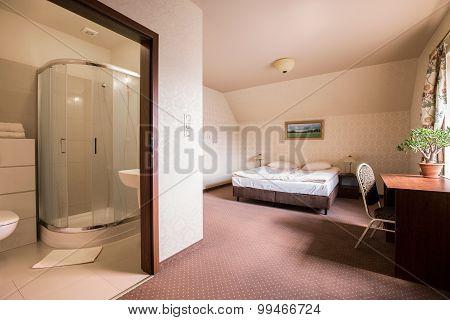 Roomy Bedroom And Bathroom