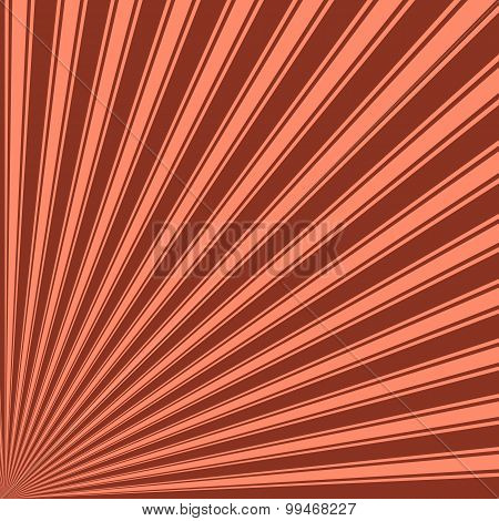 Burnt umber Color Stripe Funky Sun Rays Backgound