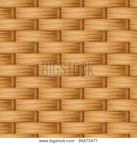Brown wicker texture. Vector seamless background.