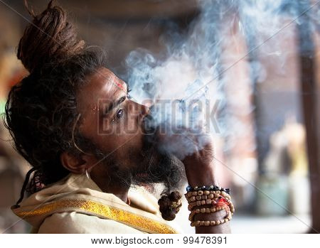 Smoking Sadhu