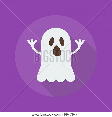 Halloween Flat Icon. Ghost