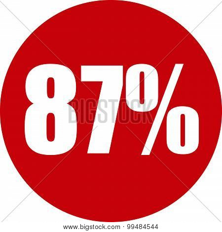 87 Percent Icon
