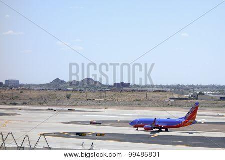 Southwest Airlines Boing-737 in Sky Harbor, AZ