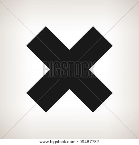 Delete Sign, Crosswise Sign