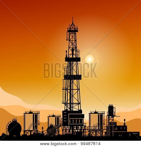 Silhouette Drilling Rigs