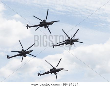 Powerful Military Helicopters Mi-28