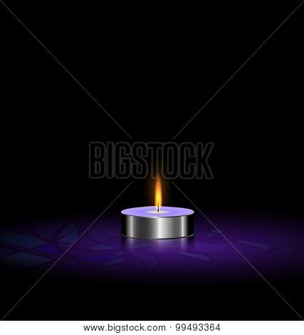small candle purple