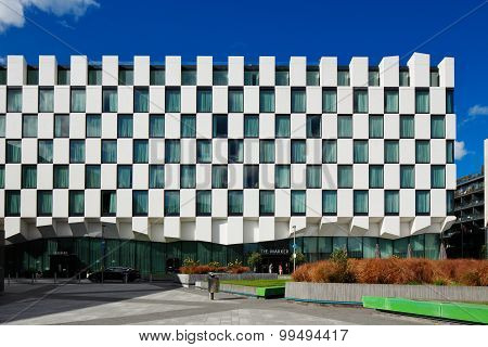 Modern architecture of Dublin Docklands area
