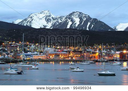 A view of Ushuaia, Tierra del Fuego