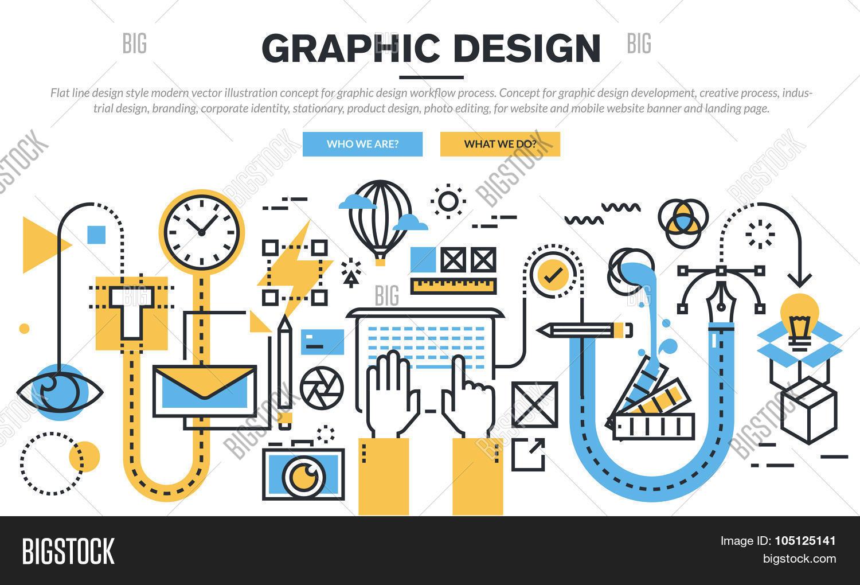 flat line design vector photo free trial bigstock