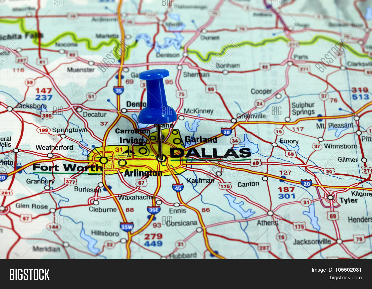 Map Pin Point Dallas Image & Photo (Free Trial) | Bigstock Dallas In Usa Map on