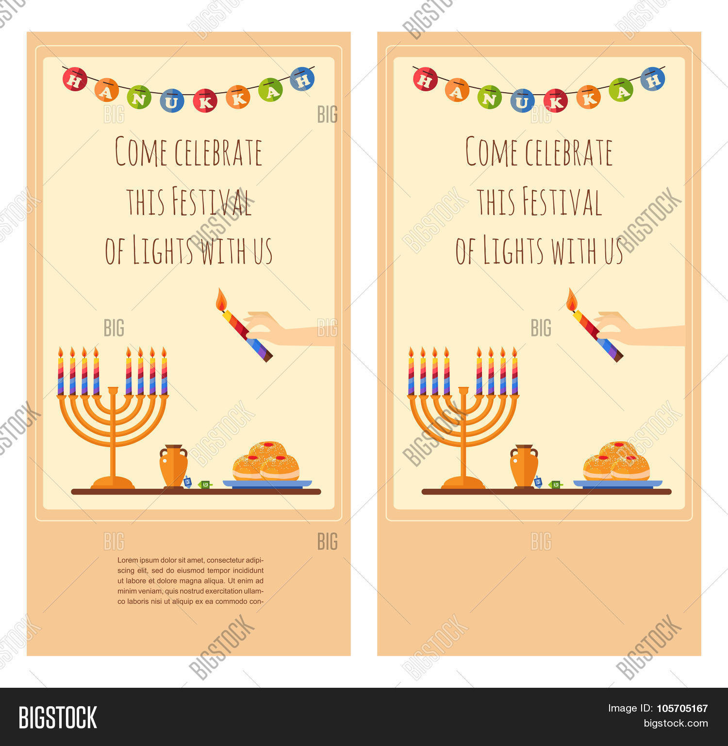 Happy hanukkah vector photo free trial bigstock happy hanukkah greeting card design snowing holiday template for party invitation hebrew letters o m4hsunfo
