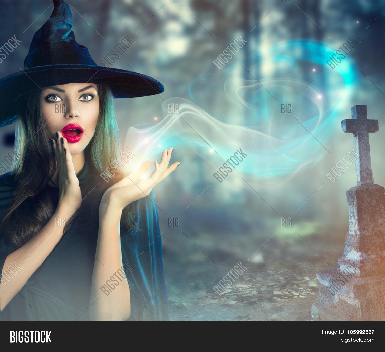 Halloween Witch Magic Dark Old Image & Photo
