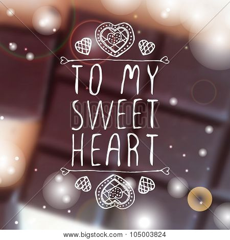 To my sweetheart