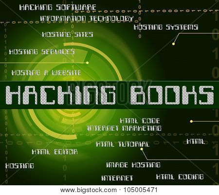 Hacking Books Represents Hackers Cyber And Textbook