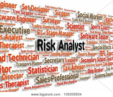 Risk Analyst Represents Analyse Analyze And Occupation