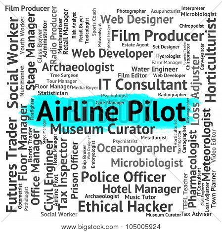 Airline Pilot Means Wingman Captain And Employment