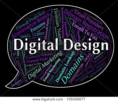 Digital Design Means Technology Computer And Electronic