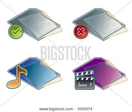 Design Elements 45A. Folders Icon Set
