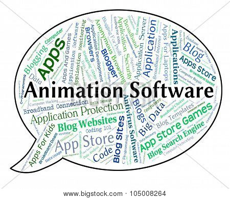 Animation Software Represents Animations Text And Programs