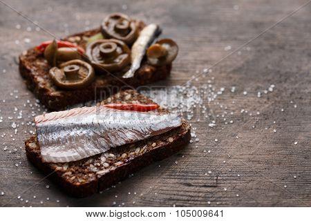 Open Sandwich Or Smorrebrod