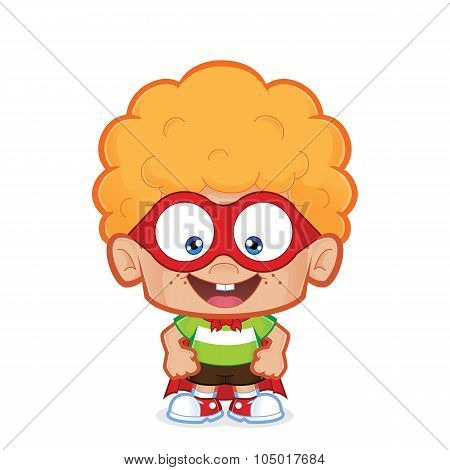 Superhero nerd boy