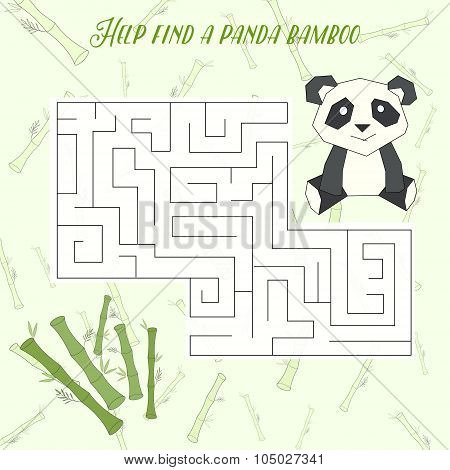 Labyrinth maze find a way panda layout for game