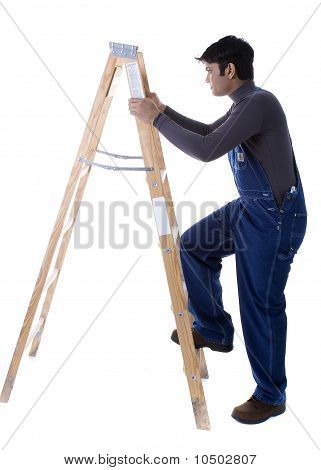 Male Model with ladder