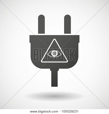 Isolated Plug Icon With An All Seeing Eye