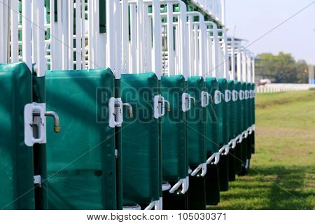 Horse Racing Starting Gates Close-up