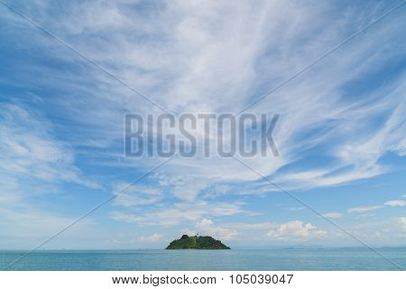 Island With Pagoda At The Myeik Archipelago, Myanmar