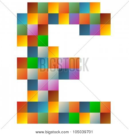 Colorful poundsterling text in vector