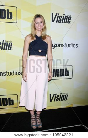 LOS ANGELES - OCT 15:  Alona Tal at the IMDB's 25th Anniversary Party at the Sunset Tower on October 15, 2015 in West Hollywood, CA