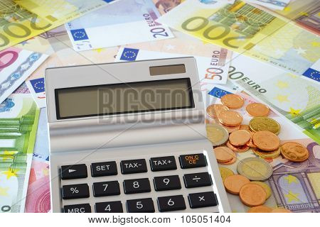 Calculator Is On Euro Currency