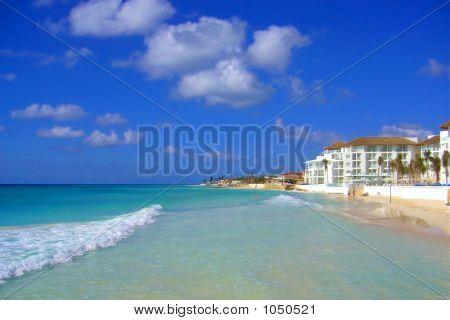 Beach In The Isla Mujeres Island