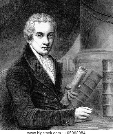 Wilberforce, vintage engraved illustration. Magasin Pittoresque 1867.