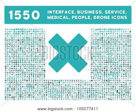 Delete Icon and More Interface, Business, Tools, People, Medical, Awards Flat Glyph Icons