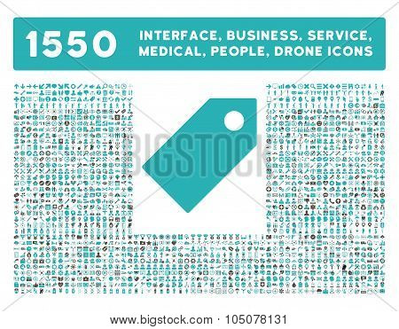 Tag Icon and More Interface, Business, Tools, People, Medical, Awards Flat Glyph Icons