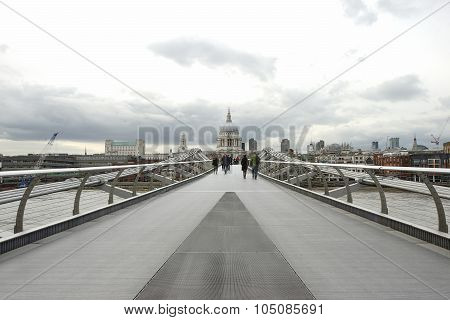Millennium Bridge, St Paul's Cathedral, London