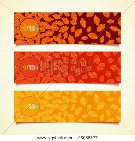 Foliage autumn banner design