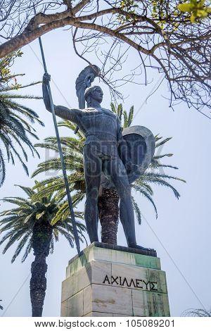 Achilleion Statue At Corfu, Greece