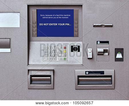 Faulty Cash Machine