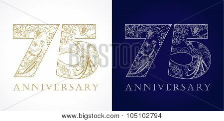 75 anniversary vintage logo.