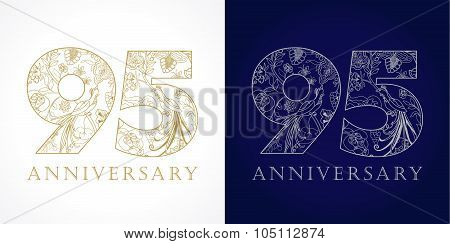 95 anniversary vintage logo.