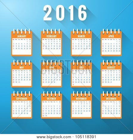 Calendar For Year 2016
