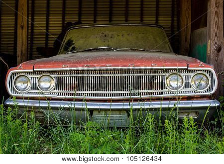 Old Dodge In Shed