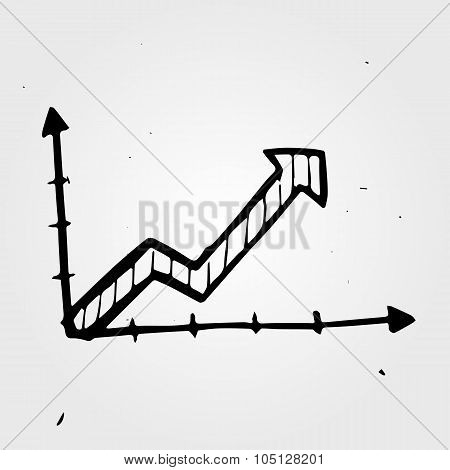 Vector Hand Drawn Business Chart