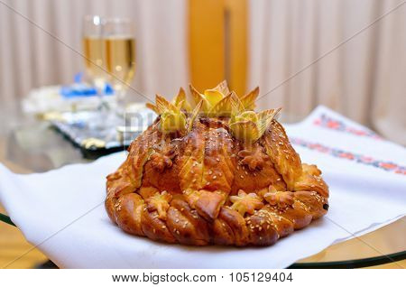 Round The Wedding Loaf Of Bead Bread Salt